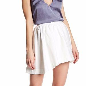 IRO Altea Faux Wrap White Mini Skirt